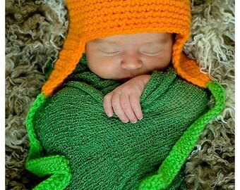 PumpkinTop Earflap Crochet Hat - Child