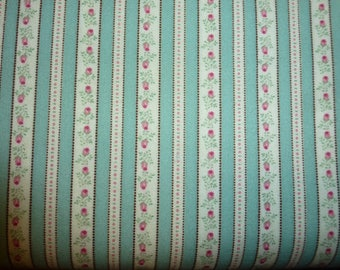One Yard of Quilt Cotton Striped Fabric an Ameritex Print