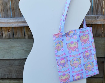 Fairytale 'Francis' Library Bag, handmade library bag, fabric library bag, tote