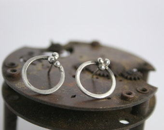 Silver Earrings - Hand Forged