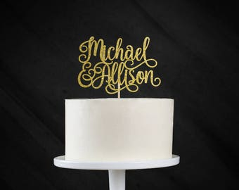Personalized Wedding Cake Topper, Wedding Cake Topper, Custom Wedding Cake Topper, Engagement Cake Topper , Bridal Shower Cake Topper