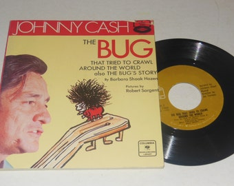 Johnny Cash Book and Record The Bug That Tried to Crawl Around the World 1970 CC71032 Columbia