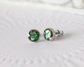 Turquoise Stud Earrings, Turquoise Studs, Aqua Earrings, Turquoise Stud Earrings 8mm, Turquoise Stud Earrings Small, Tiny Stud Earrings