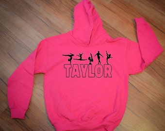 Personalized Gymnast Hooded Sweatshirt for Girls