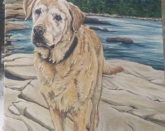 Pet Portrait, Dog Art