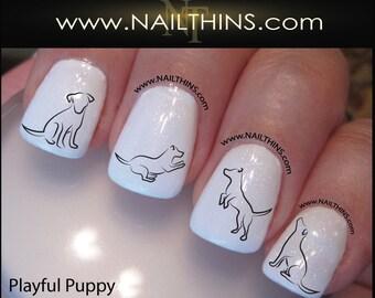 Puppy Nail Decal Dog Nail Art Pup Nail Designs NAILTHINS