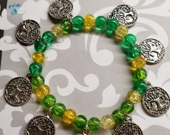 TREE of LIFE stretchy beaded bracelet ALL for Charity