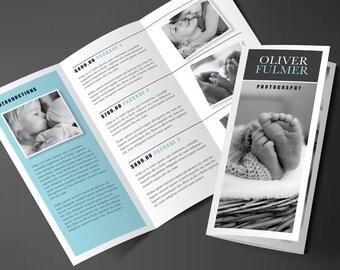 Printable Brochure Design, Rack Brochure, 2 fold flyer, Photography Brochure, Brochure Template, 3 Panel Trifold Brochure, Marketing Kit