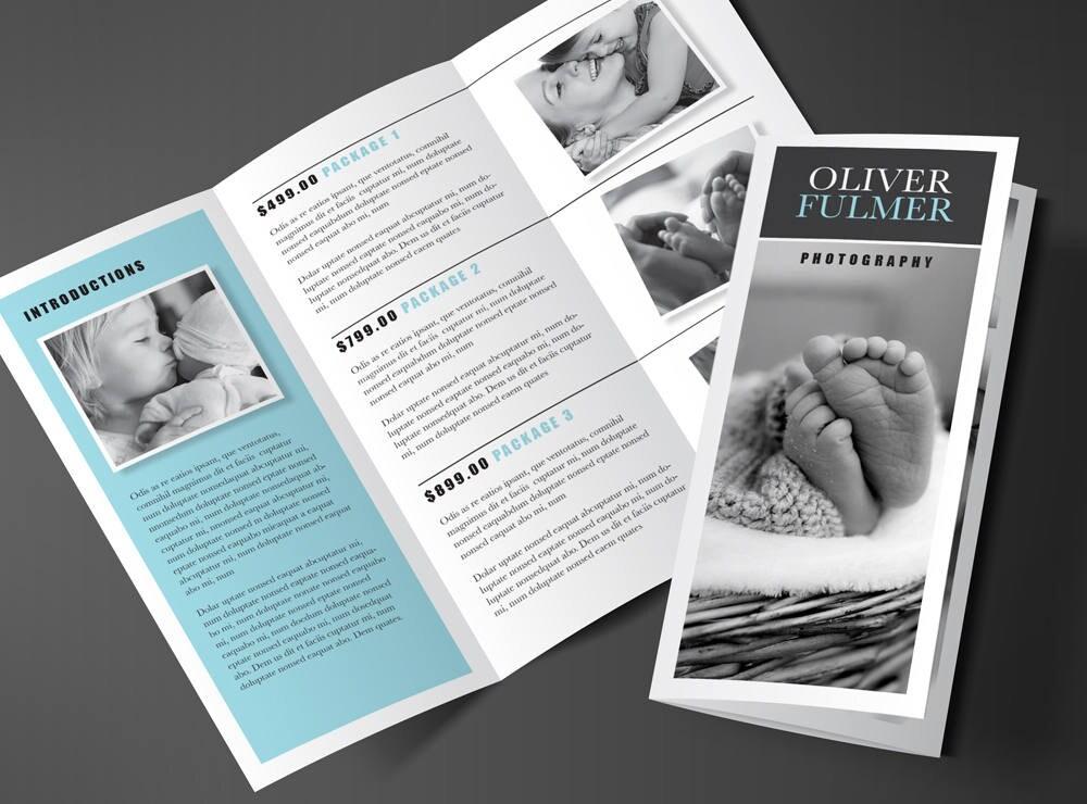 Druckbare Broschüre Design Rack-Broschüre 2 Falten Flyer