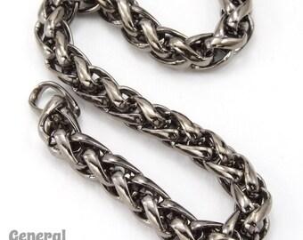 5.5mm Gunmetal Wheat Chain #CCC218