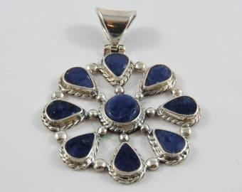 950 Silver Bezel set Sodalite Pendant