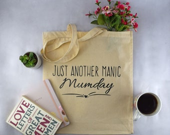 Just another manic mumday cotton tote shopping bag