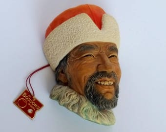 "Bossons 1960s Bossons ""Himilayan"" Chalkware Head Made in England Vintage"
