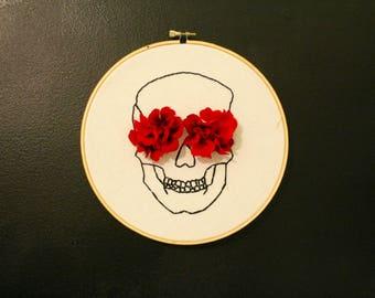 Flower Skull Large