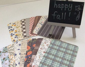 Hello Fall-Project Life Inspired 3 x 4 Journal Cards-Set of 15