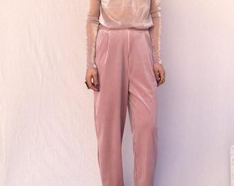 Nakoon pink velvet trousers