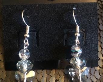 Glass Butterfly Earrings - short
