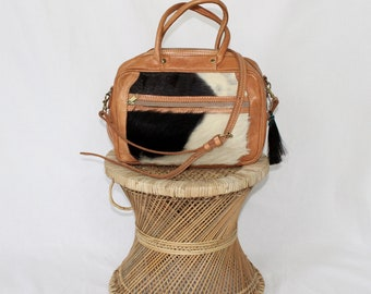 Vintage Faux Leather Shoulder Bag