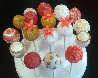 CAKE POPS cakepops CHRISTMAS 1 Dozen (23sweets)/homemade Christmas gift/sweet/food gifts/wedding/cakepops/baking/wedding favor/party