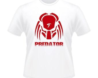 1980s Science Fiction Arnold Schwarzenegger Predator Movie T-Shirt