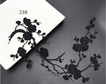 Blossom Applique.Cherry Blossom Decor.Flower Patch.Floarl Applique.Sewing Supplies.Embroidered Applique.Cherry Embroidered Patch