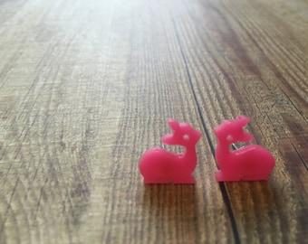 Super Cute Mini Fawn Earrings. Baby Deer Earrings. Bambi Earrings. Animal Earrings. Quirky Earrings. Fun Earrings. Bambi Love. Fawn Love.