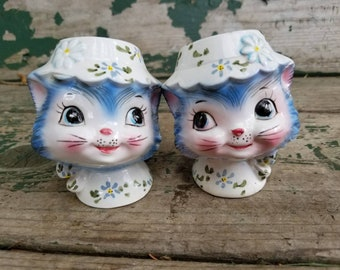 Vintage, Lefton Miss Priss, 1511, Salt and Pepper, Cat, Kitten Salt and Pepper