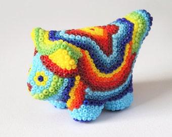 OOAK Cat, Cat Miniature, Handmade Miniature, Micro Mosaic, Cat Sculpture