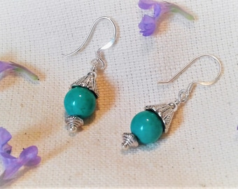 Small Earrings in real Turquoise