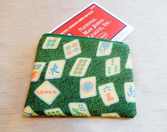 Mah Jongg Pouch/ Gift for Women/ Gift for Her/ Best Friend Gift/ Birthday Gift/ Gift for Women/ Make Up Bag/ Mah Jongg Gift/ Wife Gift