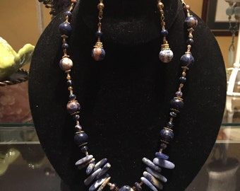 Sodalite Spears and Pendant