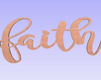 large Unfinished faith sign,family wood word, unfinished faith word,family plaque,faith letters ,faith word,home decor faith word,10x23