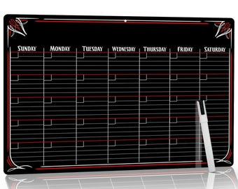 Bigtime Signs PVC Dry Erase Monthly Magnetic Calendar No Stain Technology
