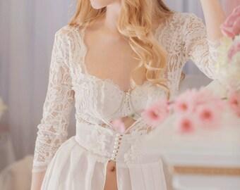 Boudoir Dress,Boho wedding dress,Crochet Lace Wedding Dress