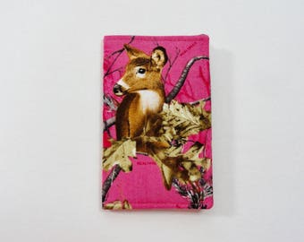 Dark Pink Real Tree Camo Mini Wallet