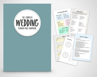 Wedding Planner Binder Printable Slate Blue wedding organiser  Folder, Instant Digital Download, Wedding Planner