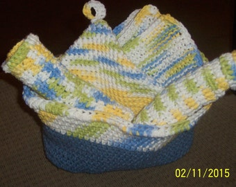 Crochet Cotton Yarn Kitchen Items