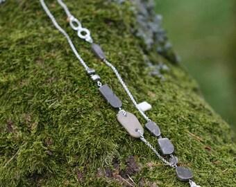 Raw stone necklace - Gemstone necklace for women - Long Stone necklace, Long Boho necklace, Natural Stone necklace, Bohemian necklaces women