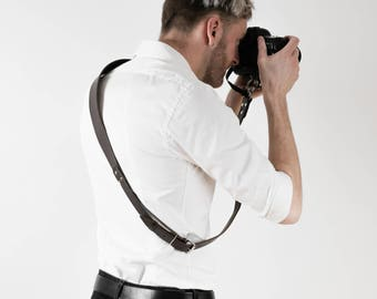 Handmade Camera Strap, Leather Camera Strap, Leather Sling Strap, Gift For Photographer, Leather Film Sling, Sling Strap, Brown Camera Sling