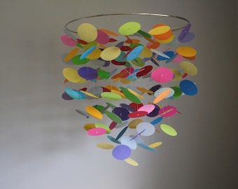 Mulitcolor Rainbow Confetti Mobile (Large) // Nursery Mobile - Choose Your Colors