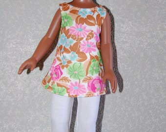 Tank top with leggings tkct217 Les Cherie's H4H Betsy McCall Pink/tan READY To Ship
