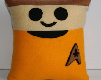 Star Trek Captain James T. Kirk Mini Felt Cushion
