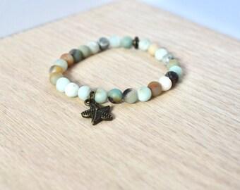 Amazonite Starfish Bracelet