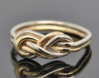 infinity ring, infinity knot ring, best friend, promise, friendship, sisters, mother daughter, ring, white gold,  yellow gold, 14k