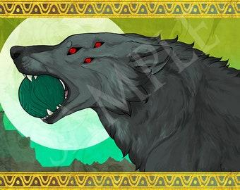 Dragon Age Dread Wolf Print
