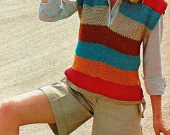 Easy Vest Vintage Crochet Pattern Instant Download