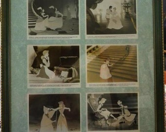 "WALT DISNEY CINDERELLA  6 – 8"" X 10""Black and White 1940's Press Release Photos  Custom Framed and Matting One of A Kind"