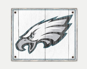 Philadelphia Eagles sign - Print applied to wood - Eagles fan gift - Man cave Boys room Sports Bar decor Fathers Day gift for Dad