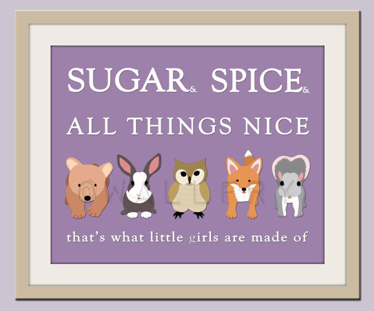 Nice Quotes For Baby Girl: Little Girls Nursery Art. Baby Nursery Wall Art Sugar & Spice