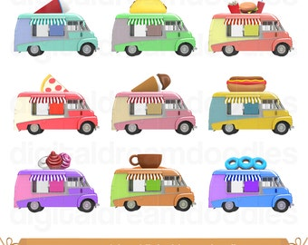 Food Truck Clipart Clip Art Ice Slush Image Pizza PNG